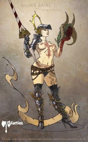 Gilded-Saint-Dragon-Hunter-Art